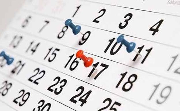 Calendario tentativo 2020